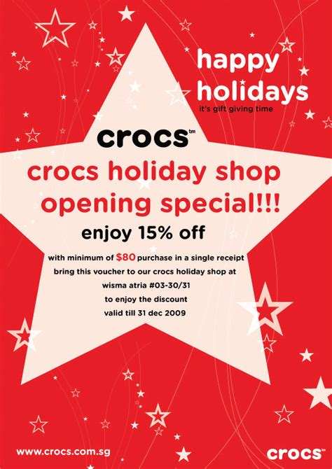 wisma atria new year promotion crocs singapore wisma atria new store special promotion