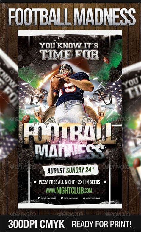 top  american football psd flyer templates
