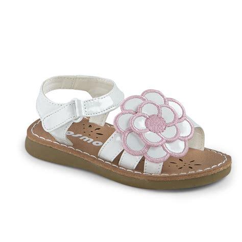 white flower sandals josmo toddler s 31092 white pink flower sandal