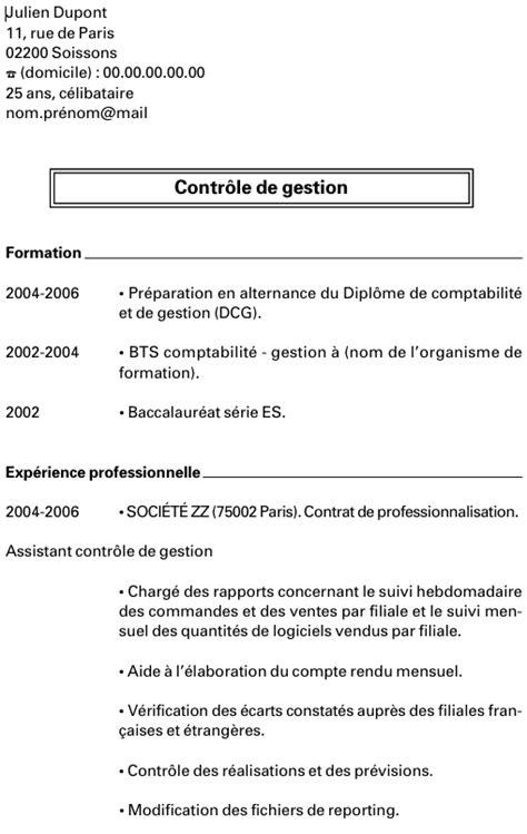 Modèle Cv Mise En Page by Resume Format Mod 232 Le Curriculum Vitae Droit