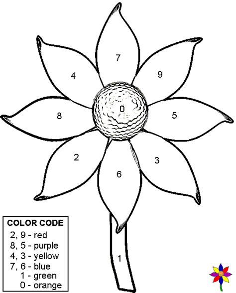 color by number flower coloring pages free coloring pages of color number 18