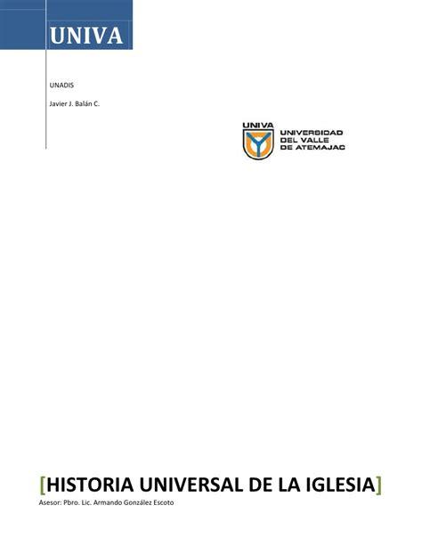 historia universal del la 8499089496 historia universal de la iglesia javier