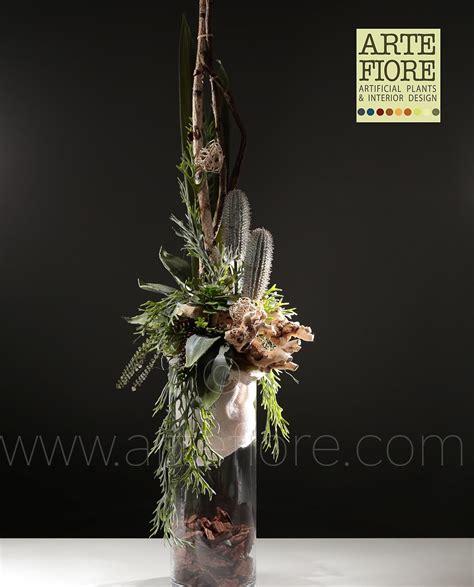 vasi con fiori finti composizioni fiori finti in vaso vetro uz58 187 regardsdefemmes