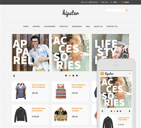 changing themes bigcommerce hipster ecommerce website template bigcommerce