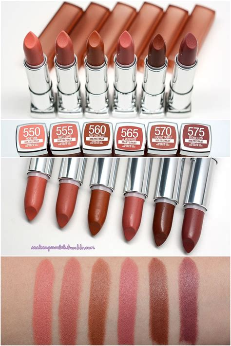 Maybelline Intimate maybelline inti matte lipsticks swatches