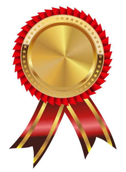 ribbon png ribbons and gold on pinterest gold and red medal png clipart image เหร ยญรางว ล