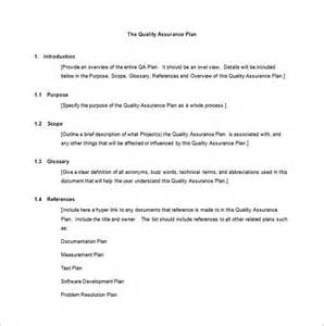 quality assurance program template quality assurance plan template 8 free word pdf ppt