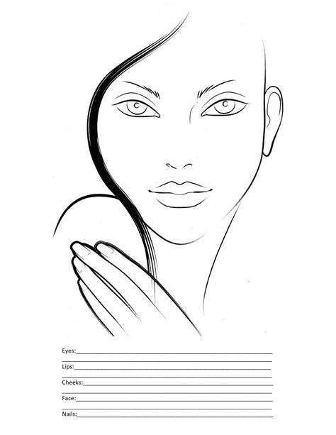 blank makeup template search results for makeup template printable