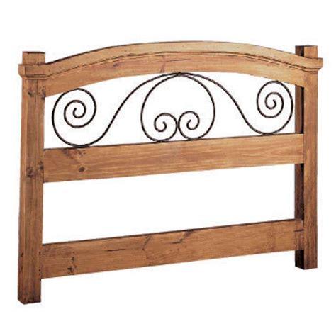 cabecero madera cabecero r 250 stico de 105 en forja y madera de pino macizo