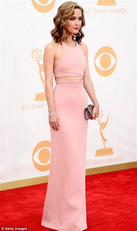 claire danes and zooey deschanel rose in pink byrne looked sophisticated in a two piece