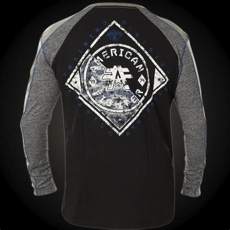 Hoodie Sweater Fighter Fei Grey Backfront Logo american fighter by affliction sweatshirt with an affliction logo design