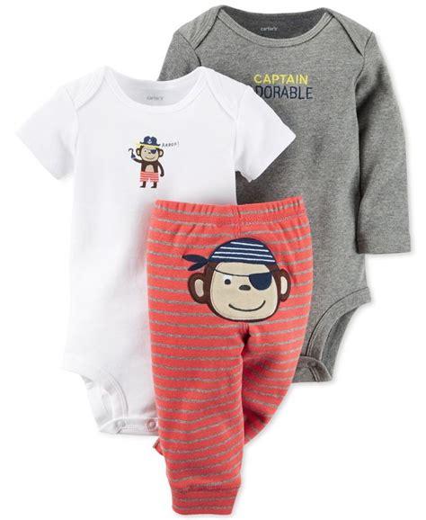 s baby boys 3 bodysuit monkey set products carters baby