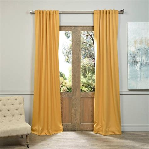 50 x 96 curtains exclusive fabrics furnishings semi opaque marigold