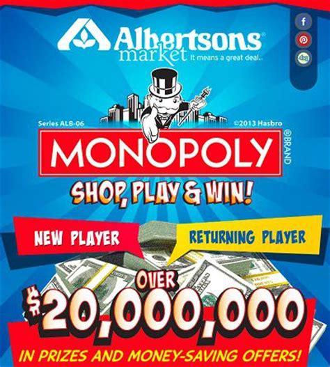 Albertsons Sweepstakes - play monopoly 2013 game on playmonopoly us sweepstakesbible