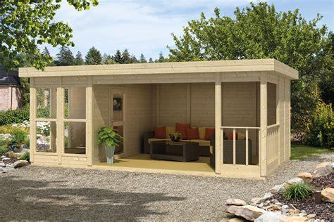 schuur bouwen zonder vergunning blokhut lisette met veranda 609 x 364 cm houten buitenverblijf