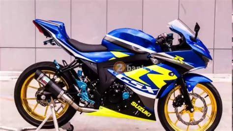 modifikasi motor suzuki 30 modifikasi suzuki gsx r150 paling ganteng