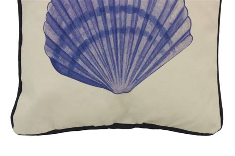Seashell Pillow by Buy Blue And White Seashell Decorative Throw Pillow 10