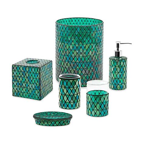 Teal Colored Bathroom Accessories by Emerald Bathroom Accessories Bed Bath Beyond