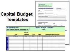 capital budget template tools it manager institute