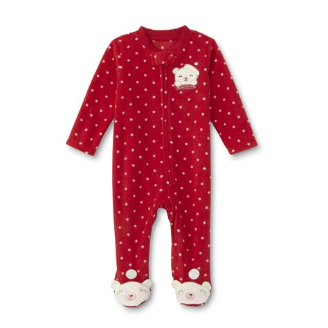 little wonders newborn girls christmas sleeper pajamas