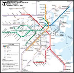 Boston Mta Map by Metroseeker Com Public Transit