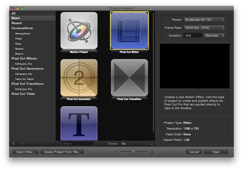 create motion templates for final cut pro x fxfactory