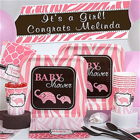Pink And Brown Giraffe Baby Shower Decorations by Brown And Pink Baby Shower Decorations