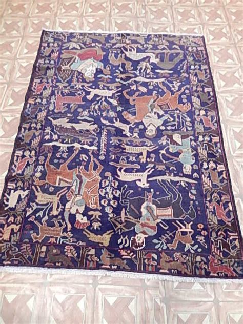 Area Rugs For Office Wool 45x74 In Rugs Decor Office Room Handmade Rug 4 X 6 Baluch Ebay