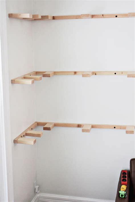 How To Build A Floating Corner Shelf by Diy Floating Corner Shelves A Beautiful Mess