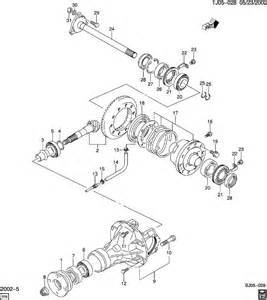 chevrolet differential carrier front axle gears inner shaft
