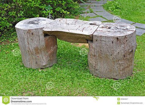 bench made out of tree trunk garden bench stock image image of tired bench rest