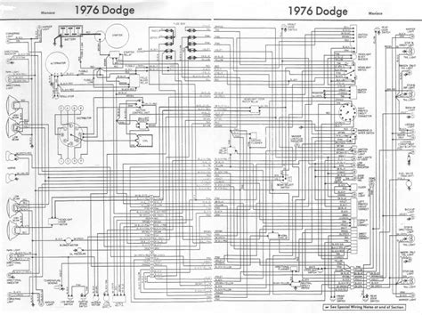 dodge wiring diagrams dodge monaco 1976 complete electrical wiring diagram all