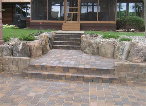 Build A Patio With Pavers Inspiring Building A Patio With Pavers 7 How To Build Patio Steps With Pavers Newsonair Org