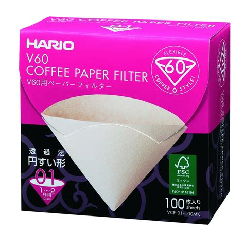 Hario Paper Filter Vcf 01 40m Size 01 hario misarashi paper filters for 01 dripper 100 sheets