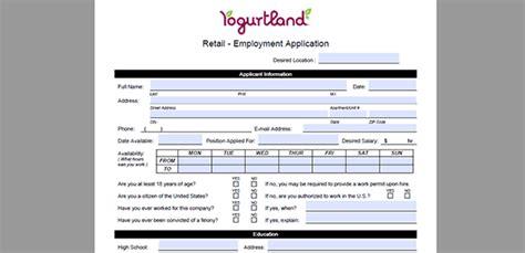 printable job application for yogurtland yogurtland job application adobe pdf apply online