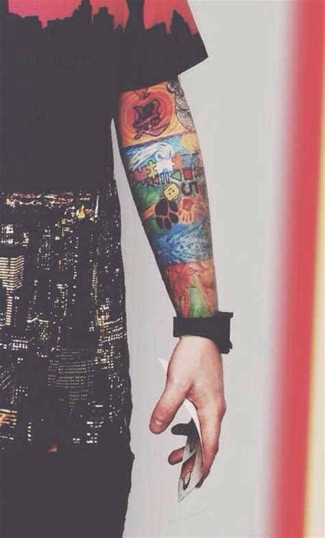 ed sheeran forearm tattoo ed sheeran s tattoo sleeve so colourful and hot ed