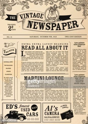 Newspaper Layout Vector | vintage newspaper layout design template vector art