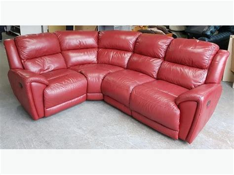 red leather recliner corner sofa rrp 163 2000 dfs red thick leather reclining corner sofa we