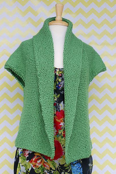 knitting pattern simple vest sprout cardigan free knitting pattern nobleknits