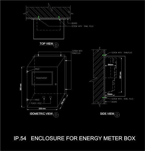 Mechanical Floor Plan Electric Meter Box 2d Dwg Plan For Autocad Designscad