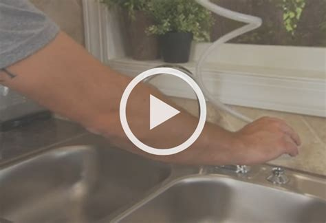 install kitchen faucet with sprayer how to install a two handle kitchen faucet at the home depot