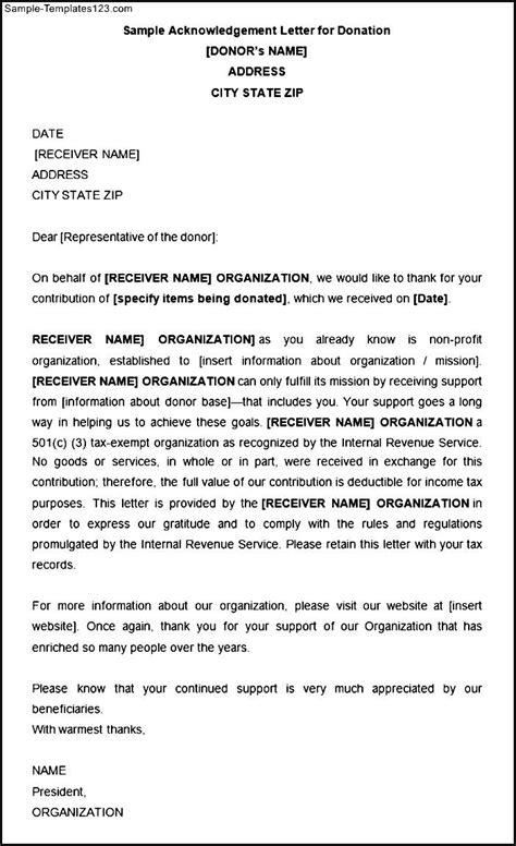 Acknowledgement Letter For Ojt sle acknowledgement letter for donation sle