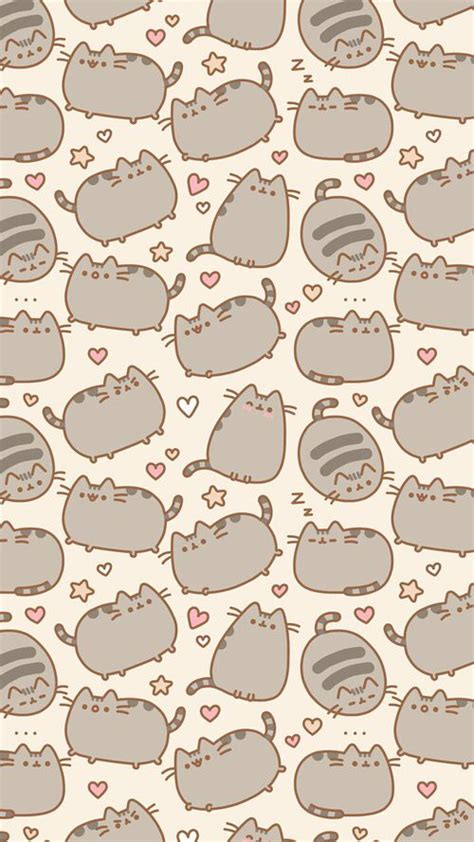 kitten pattern background 55 best images about pusheen cat wallpaper on pinterest