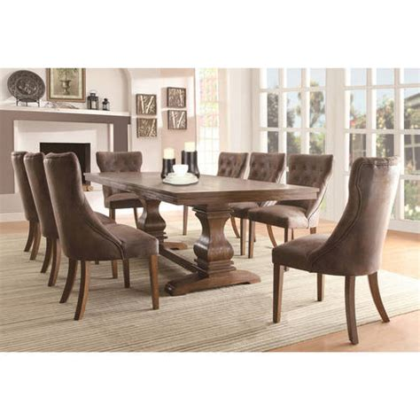 Coronado 90 Quot Dining Table Weston Home Oak Finish Dining Table With 18 Quot Leaf Table Only Walmart