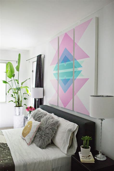 headboard art geometric art headboard panels a beautiful mess