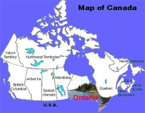 ontario on canada map ontario city and area maps canada map