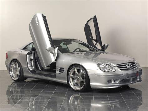 Cars With Scissor Doors by 2005 Kleemann Sl 50k S8 Scissor Doors Based On Mercedes Sl Side Angle Top Up