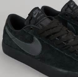 nike sb blazer low gt shoes black anthracite flatspot