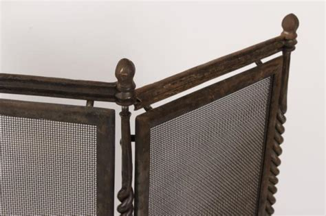 fireplace screen and tools set hand forged iron fireplace screen and tool set