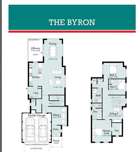 floor plans for narrow blocks byron narrow block house designs pinterest house
